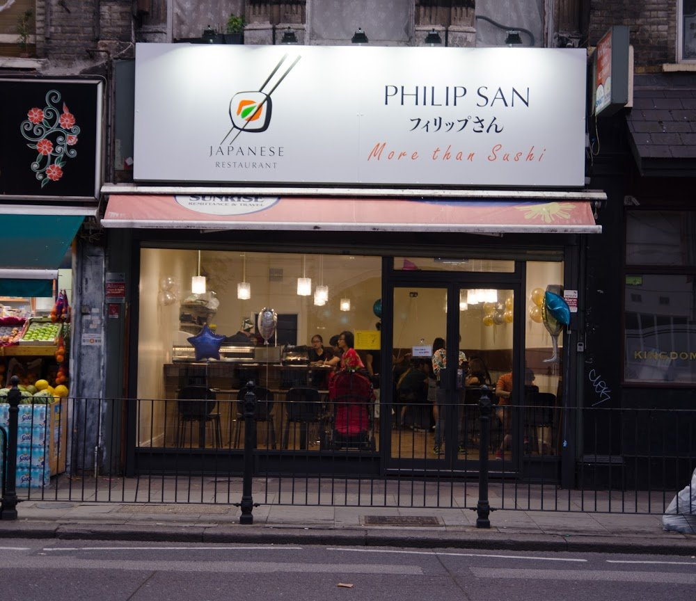 PHILIP SAN SUSHI JAPANESE RESTAURANT KILBURN