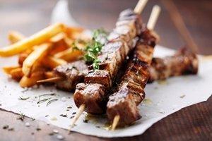 souvlaki - meat on skewer